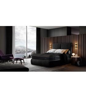 Matelas BLACK Edition - Premium Luxe - Hauteur 35 cm avec 2 Sur-matelas  - Suspension ressorts ensachés.