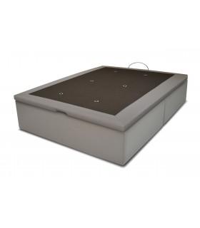 Sommier Coffre LBDM-CRISTAL en pvc-24 cm de Hauteur utile- Vérins hydrauliques-Fond en mélaminé-base en 2 parties