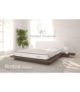 Matelas Norbert Couturier « Coutil Nature » AMBRE - H:29 cm - Ressorts ensachés - Capitonné -Coutil 100% lin - Tradition