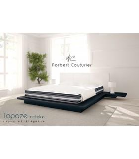 Matelas LBDM-TOPAZE-H20cm-Accueil mémoire de forme-Plates-bandes 3D+-Confort soft.
