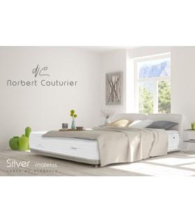 Matelas Norbert Couturier « NATURE» SILVER HÔTEL - H:32cm - Coutil damassé viscose - Ressorts ensachés - Sur-matelas naturel