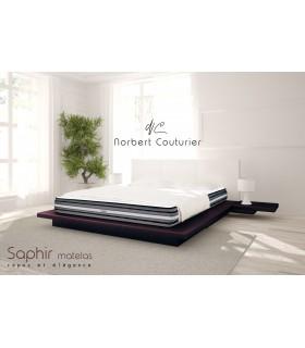 Matelas LBDM SAPHIR-25 cm-Base HR-Accueil 7 cm de mémoire de forme 50 Kg/m3-Plates-bandes 3D+ Ultra respirantes