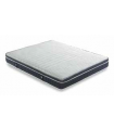 Matelas LBDM - DYNASTY - Suspension ressorts ensachés - Accueil mémoire de forme - Coutil velours de coton blanc 320 Gr/m²
