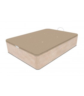 Sommier coffre LBDM - FONZY - Finition bois - Grande capacité - Hauteur utile: 29 cm  - Sommier plateau maille 3D respirante