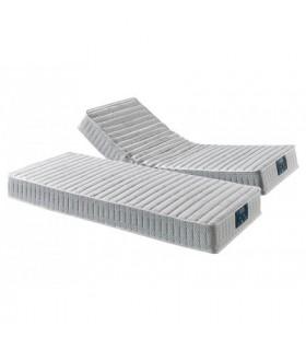 Matelas spécial relaxation réf: DYNAMIC TECHNILAT - H:22 cm-Suspension ressorts ensachés-5 zones de confort-Fabriqué en France
