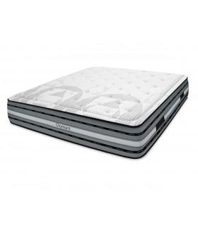 Matelas LBDM DIAMANT H: 27 cm - Série Premium - Base mousse HR + 7 cm de Mémoire de forme haute densité (F) - Confort ferme