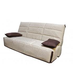 Banquette CLIC-CLAC-ANNE-Haut de gamme-Matelas H:18 cm-30 Kg/m3-Couchage 130 cm-Fabrication Française-Garantie : 5 ans