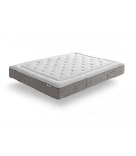 Matelas TIRELAX - Hybride - H: 27 cm - 650 ressorts ensachés + mémoire de forme - Confort ferme et ergonomique - Garantie: 5 ans