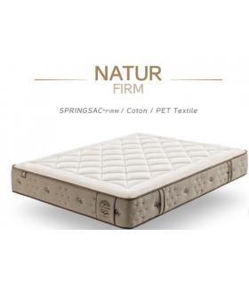 Matelas NATUR - 680 r ensachés - Confort FERME ou SOFT - Garnissage Coton 500 Gr/m²- Coutil textile recyclé - Garantie: 5 ans